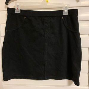 Black Stretchy Mini Skirt